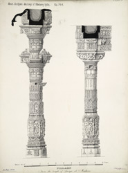 Pillars from the temple of Surya at Mudhera